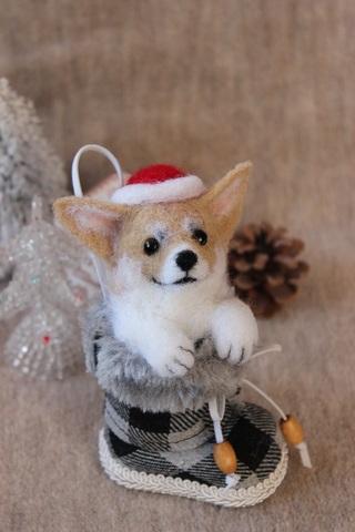 2015クリスマス*ブーツコーギーA