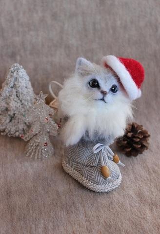 2015クリスマス*ブーツにゃんこ(チンチラ)