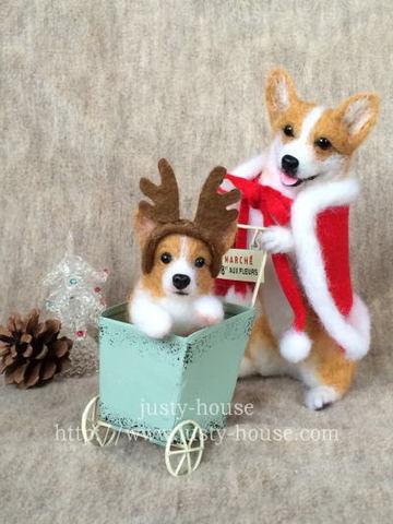 クリスマス*コーギーの親子