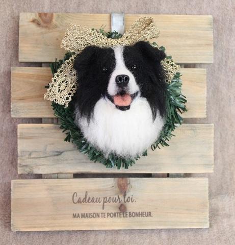 [予約販売]クリスマスリース2017ボーダーコリー