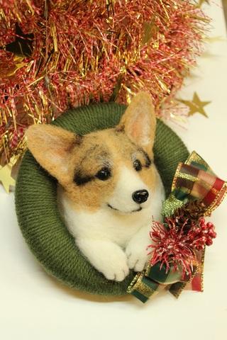 クリスマスリース*コーギーC