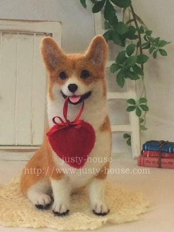 バレンタインコーギー*Heart for you♪