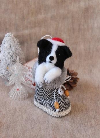 2015クリスマス*ブーツボーダーコリー