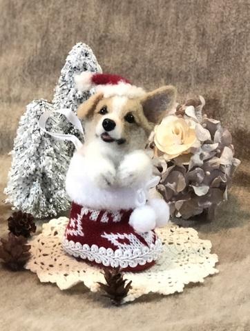 2018クリスマス*ブーツパピーコーギーA