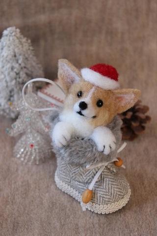 2015クリスマス*ブーツコーギーB