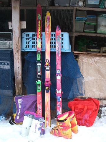 スキー板、靴