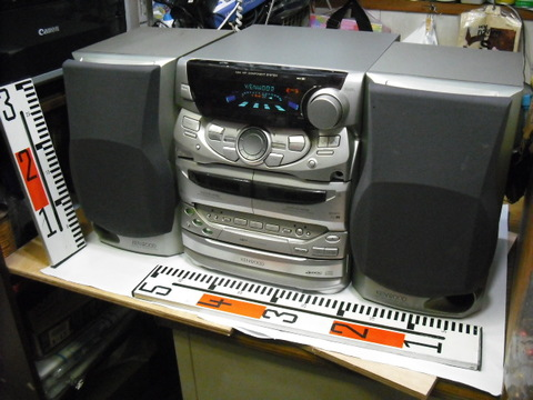 KENWOOD 3CDダブルカセットラジオコンポRXD-551
