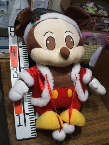 ミッキーマウス。サンタクロース姿。