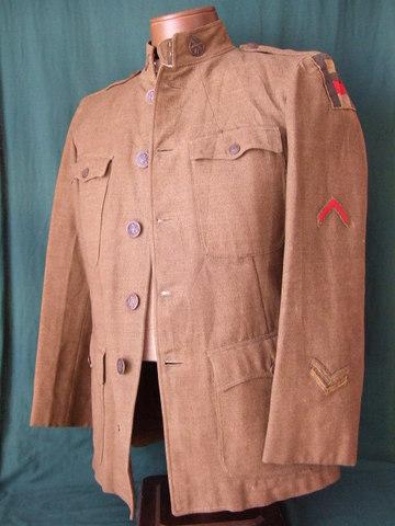 WWⅠアメリカ軍砲兵戦闘服上下
