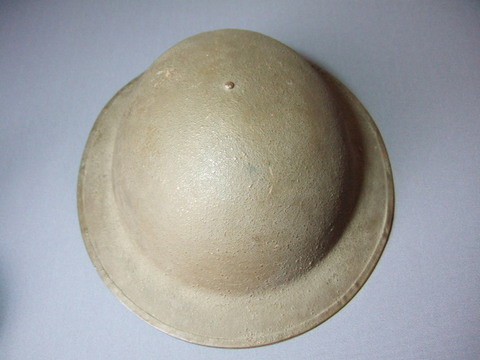 WWⅠアメリカ軍スチールヘルメット(皿型)