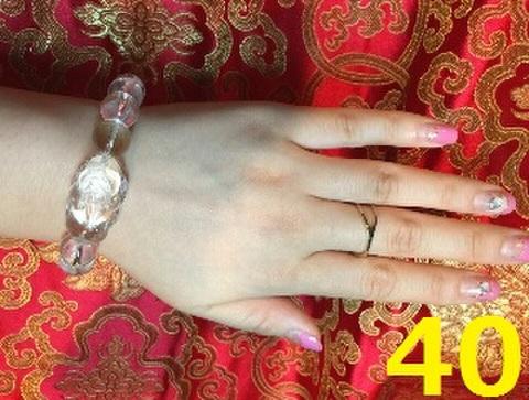 40 金運UP!!水晶貔貅(ヒキュウ)ブレスレット