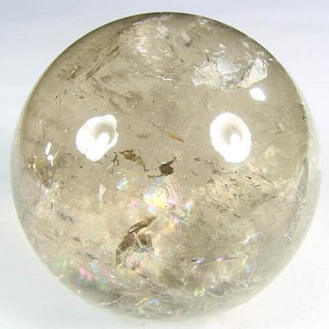 レインボー入り透明水晶玉72mm