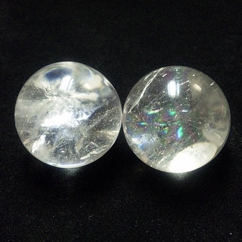 レインボー入り透明水晶玉33mm