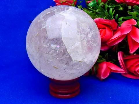 レインボー入り特大透明水晶玉100mm