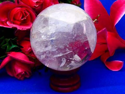 レインボー入り透明水晶玉82mm