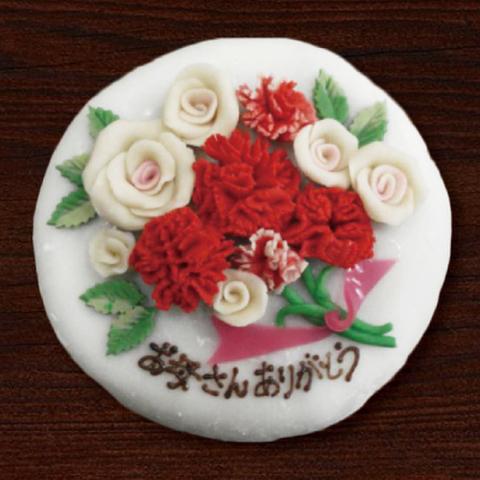 セミオーダーの創作和菓子ケーキ 直径約15cm(約8名分)