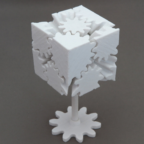"3Dプリンター版歯車の立方体データ 3D Printer ""Gear's Cube""data"