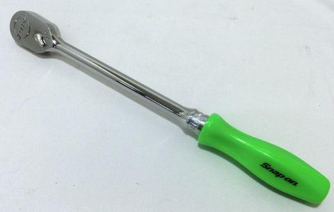 Snap-on (スナップオン) 3/8 差し込み ラチェット 旧グリップ付き ロング グリーン 緑 FHLD80G