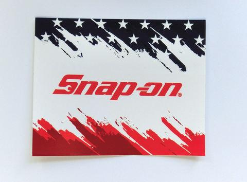 Snap-on (スナップオン) ステッカー トリコロール USA純正