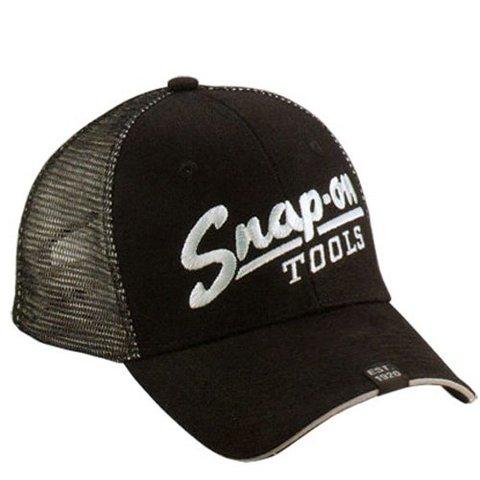 Snap-on (スナップオン) キャップ ブラック メッシュ ビンテージ ロゴ USA純正