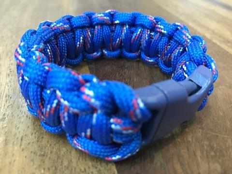 パラコードブレスレット 青色