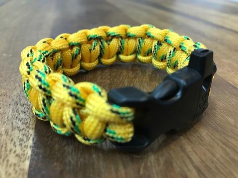 パラコードブレスレット(笛付き)黄色