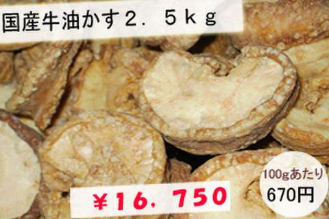 【業務用向け】国産牛油かす2.5kg