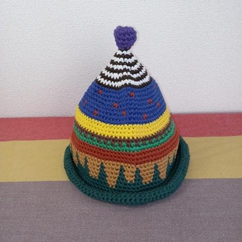 トンガリKids3~7歳サイズコットン糸の柄編み16-04