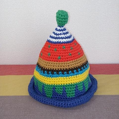 トンガリKids1~2歳サイズコットン糸の柄編み16-mini02