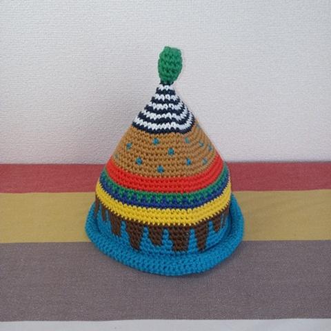 トンガリKids3~7歳サイズコットン糸の柄編み16-05