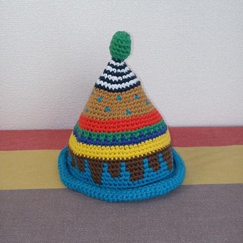 トンガリKids1~2歳サイズコットン糸の柄編み16-mini03