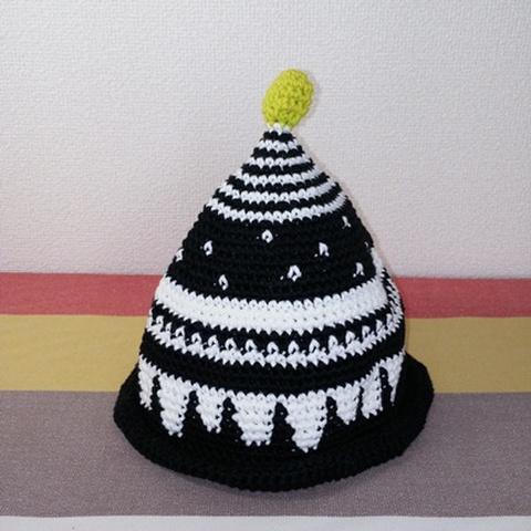 トンガリKids3~7歳サイズコットン糸の柄編み16-01