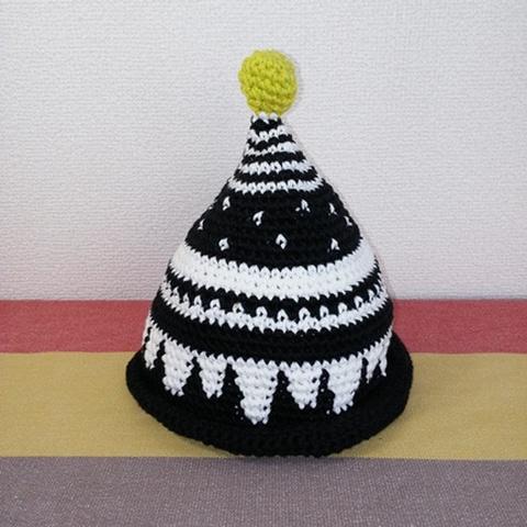トンガリKids1~2歳サイズコットン糸の柄編み16-mini01