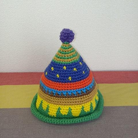 トンガリKids1~2歳サイズコットン糸の柄編み16-mini06