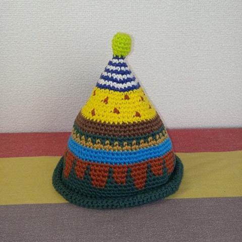 トンガリKids1~2歳サイズコットン糸の柄編み16-mini04
