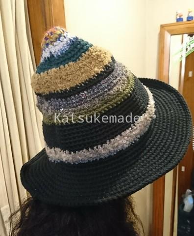 コットン糸と毛糸のハット18AW-BK02