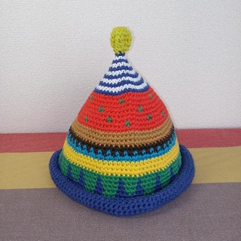 トンガリKids3~7歳サイズコットン糸の柄編み16-06