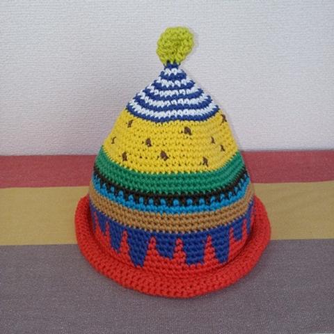 トンガリKids3~7歳サイズコットン糸の柄編み16-02