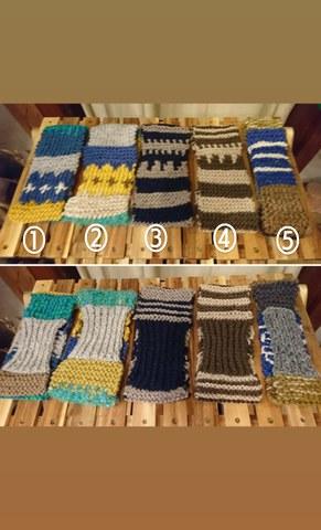 毛糸のターバン①18AW