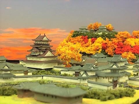 萩城 お城 ジオラマ 完成品