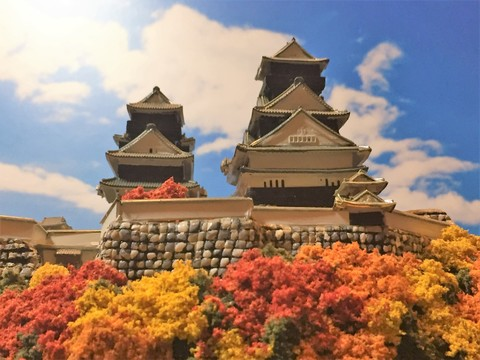 米子城 お城 ジオラマ 完成品
