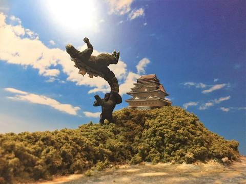 キングコング対ゴジラ 熱海城 お城 ジオラマ 完成品