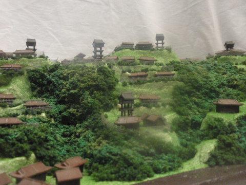 武田の城 戸石城 お城 ジオラマ 完成品