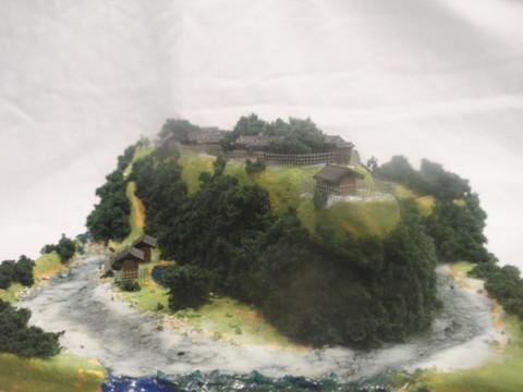 武田の城 飯田城 お城 ジオラマ 完成品