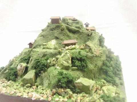 武田の城 湯村山城 お城 ジオラマ 完成品