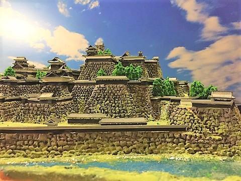 熊本城全景 お城 ジオラマ 完成品