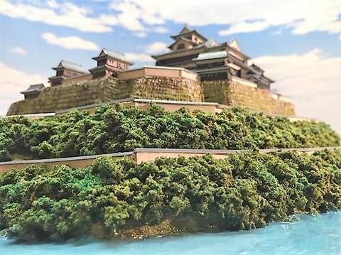福知山城 お城 ジオラマ 完成品