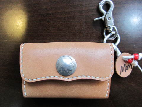 コイン&カードケース 本革 手縫い