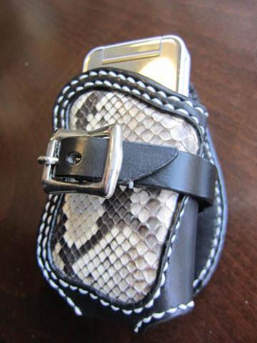 携帯電話 パイソン 蛇 プレゼント 本革