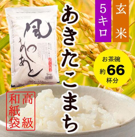 あきたこまち・5キロ・玄米